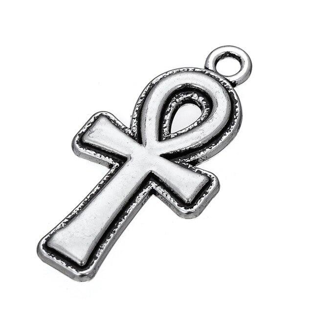 Mój kształt 20 sztuk egipskiej anhk krzyż religijne urok