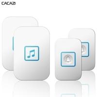 Intelligent Wireless Doorbell Waterproof 2 Button 2 Receiver 300M Remote Home Cordless Calling Bell US EU UK AU Plug Battery