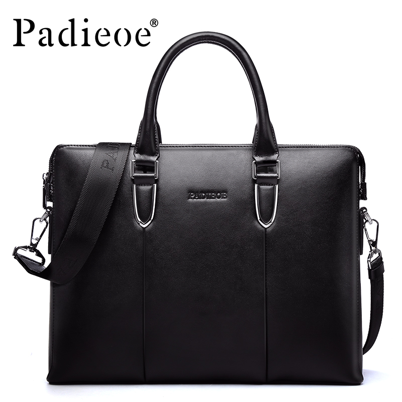 ФОТО Padieoe Luxury Men's Genuine Leather Fashion Briefcase Handbag 14
