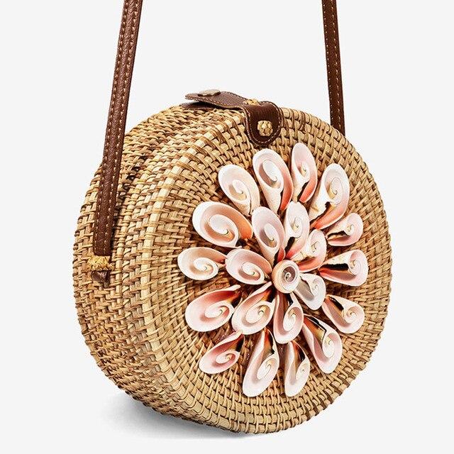 Round Straw Bags Summer...
