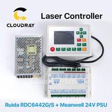 Cloudray RDC6442G Ruida DSP Controller + Meanwell 24 V 3.2A 75 W Zasilacz dla Co2 Urządzenie Do Cięcia Laserowego Grawerowania maszyna
