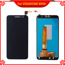 LCD Display For Vodafone smart prime 6 VF895 895N VF-895 With Touch Screen Black Color New Brand Replacement Parts Free Tools