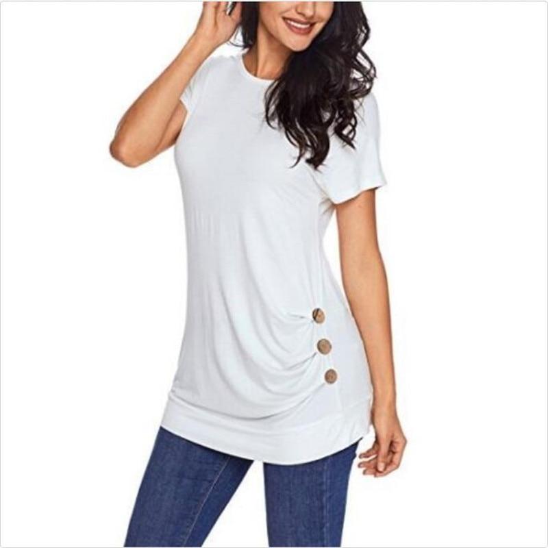 Fashion Women LadiesTops Casual T-Shirt Short Sleeve Ladies Summer Casual T-Shirt Tee