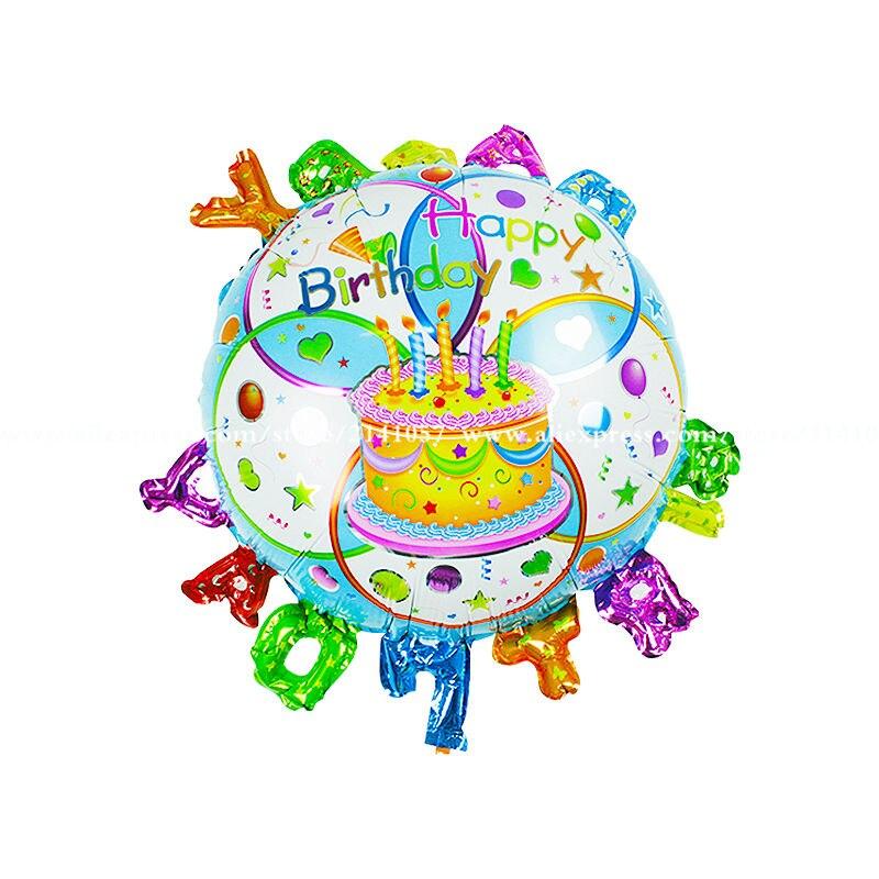 10pcs New hot balls happy birthday cartoon birthday balloons children's toys par