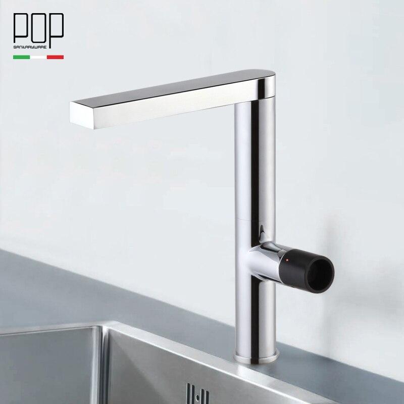 Aliexpress.com : Buy POP Modern Kitchen sink faucet, single handle ...