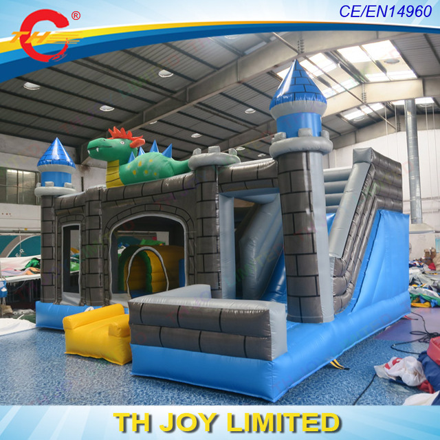 Free Shipping! 6x5m Dinosaur Inflatable Jumping Castle