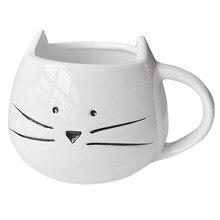 HGHO Coffee Cup Black Cat Animal Milk Ceramic Lovers Mug Cute Birthday GiftChristmas GiftWhite