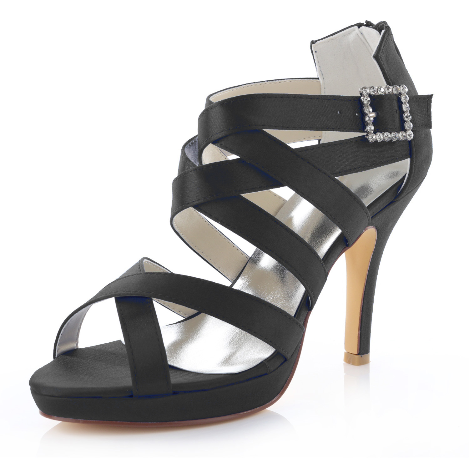 Spring And Summer Sandals Cutout Thin Heels Diamond Female Slippers Wedding Party Shoes Women Sexy High-heeled Ankle Strap Pumps цена
