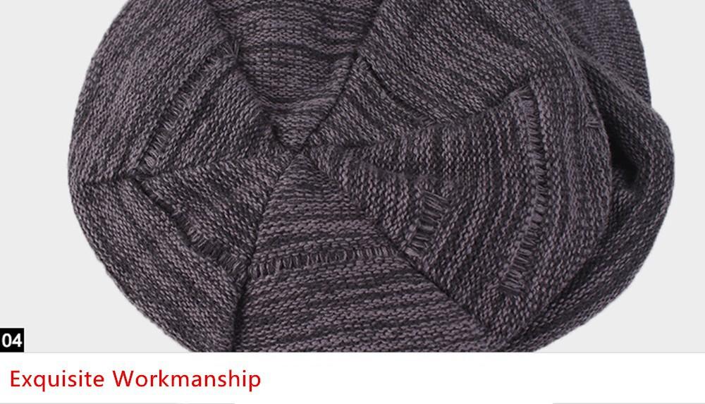 5e5b20af59192e Kenmont Autumn Winter Unisex Men Women 100% Cotton Knit Beret Hat ...