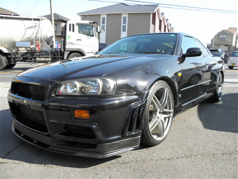 1999-2002 Nissan Skyline R34 GTR OEM標準フロントバンパーボトムリップCF(7)