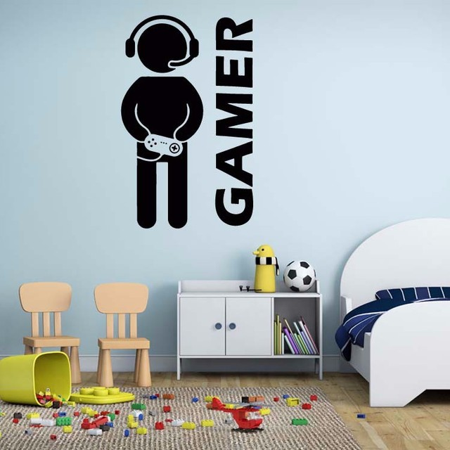 Video R Joystick Wall Decal Stickers Room Decor Art Decals Removable Vinyl Wallpaper Decoration