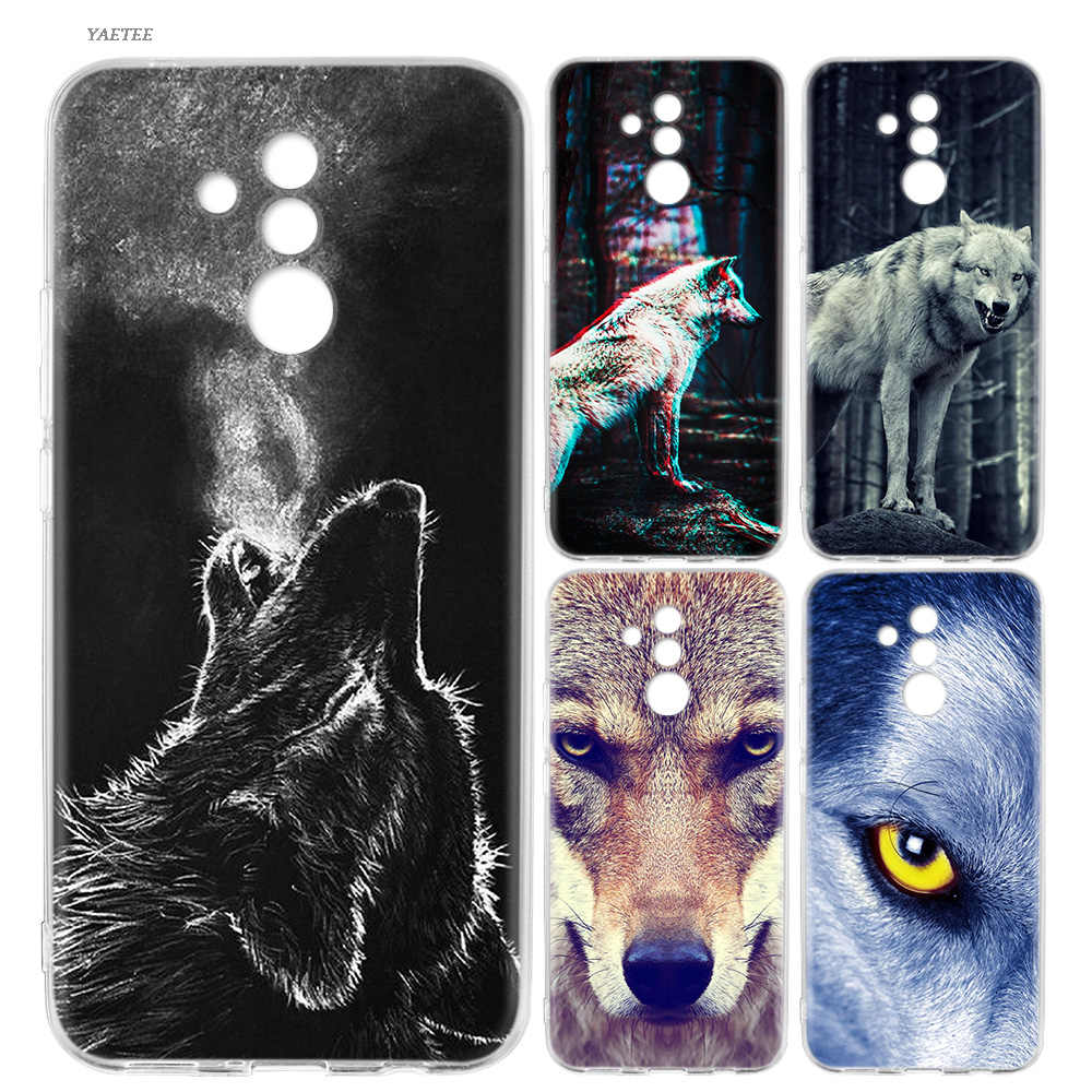 Fierce Snow Wolf Fashion Soft Case For Huawei P30 P20 Mate 20 10 Pro P10 P9 lite P Smart + Plus Z 2019 Cover