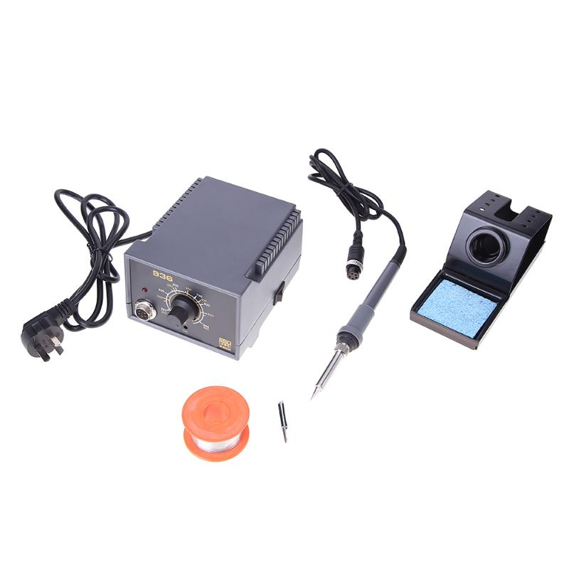 220-240V 60W 936 Soldering Iron Station Set Anti-Static Thermostat Solder Welding Tool DIY Repairing 936a 70w lead free thermostat soldering station soldering tools anti static industrial electric iron welding station