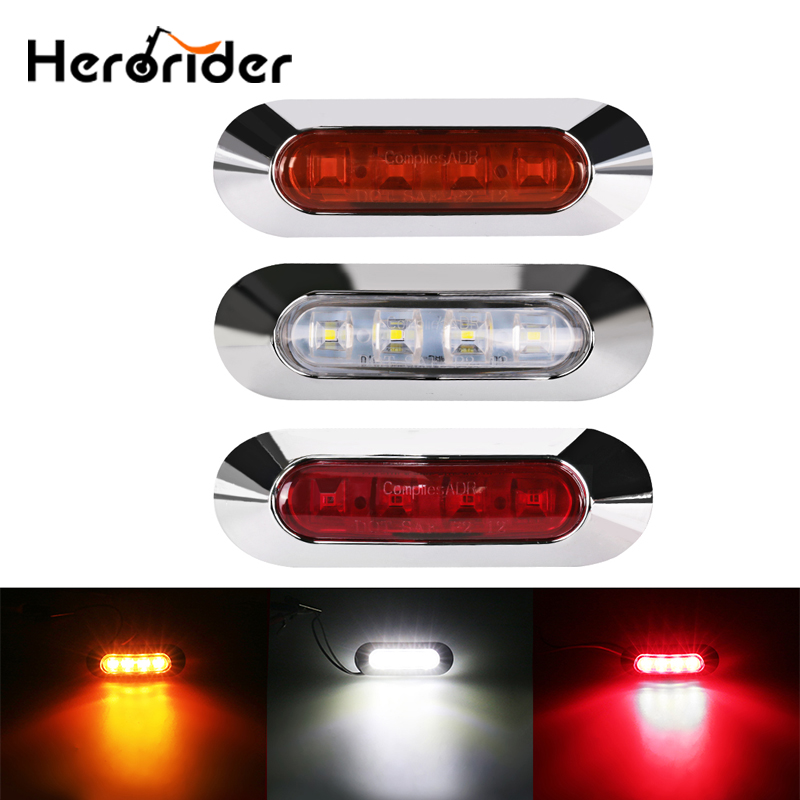 10Pcs Truck 10-30v LED Side Marker lights Clearance Lamp Warning Light External lights for Car Trailer Caravan light