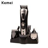 Kemei 7 en 1 Cheveux Tondeuse Électrique Rechargeable Cheveux Nez oreille Trimmer Hommes Barbe Pattes Rasoir Rasoir Épilation Peigne 4546