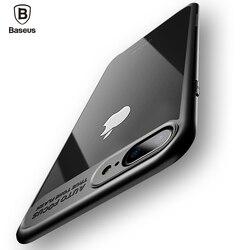 Baseus De Luxe étui pour iphone X 7 6 s rouge à lèvres de charme Capinhas PC & TPU couvercle silicone étui pour iphone 7 6 s 6 s Plus coque Fundas
