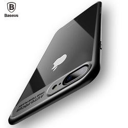 Baseus De Luxe Cas Pour l'iphone X 8 7 6 s Ultra Mince Capinhas PC & TPU Cas de Couverture de Silicone Pour iPhone 8 7 6 s 6 s Plus Coque Fundas