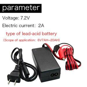 Зарядное устройство KingWei 6 в, свинцово-Кислотное зарядное устройство для электрического велосипеда, проводное зарядное устройство 7,2 В 2 А, в...