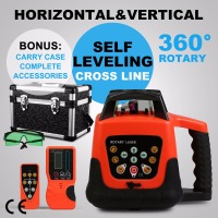 Green Self-Leveling Rotating Laser Level 360 ° Rotating Measurement Method