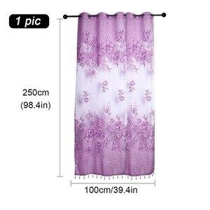 Image 3 - 100x250 cm 1 pc tkaniny na zasłony wykrawania pół cieniowania zgniłe kurtyny
