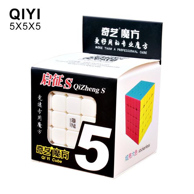 QiYi Qizheng S 5x5x5 Magic Cube Stickerless Professional Puzzle Cubes Educational Toys For Children Speed 5×5 Cube