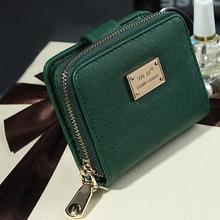 Высокое качество, модный кожаный Простой женский кошелек, клатч, кошелек, короткий, для монет, маленькая сумка, держатель для карт