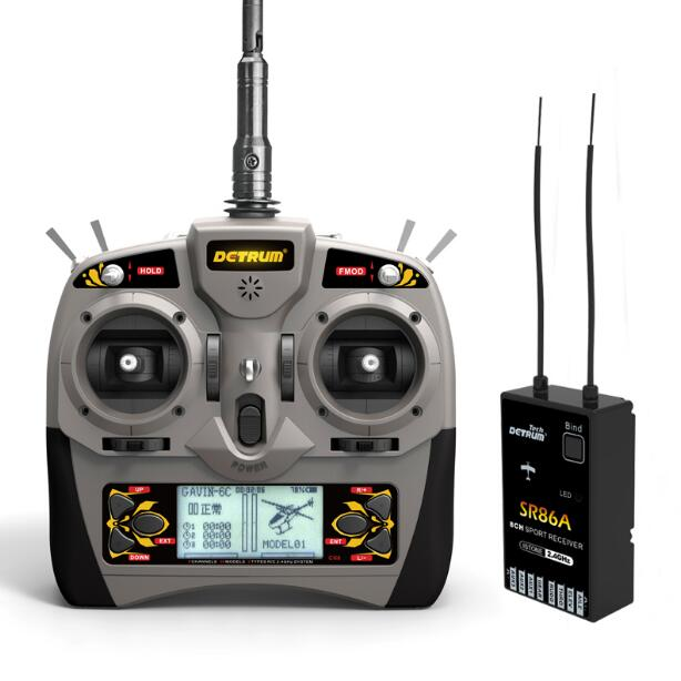 Detrum GAVIN-6C Transmitter Remote Controller w/ SR86A 8CH Receiver for RC Airplane gavin james amsterdam