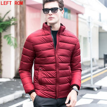 Winter Coat for Men 2017 New Fashion Solid Color Male Parka Coat Jacket Cotton Slim Warm Zipper Winter Jackets Parkas Mens Homme