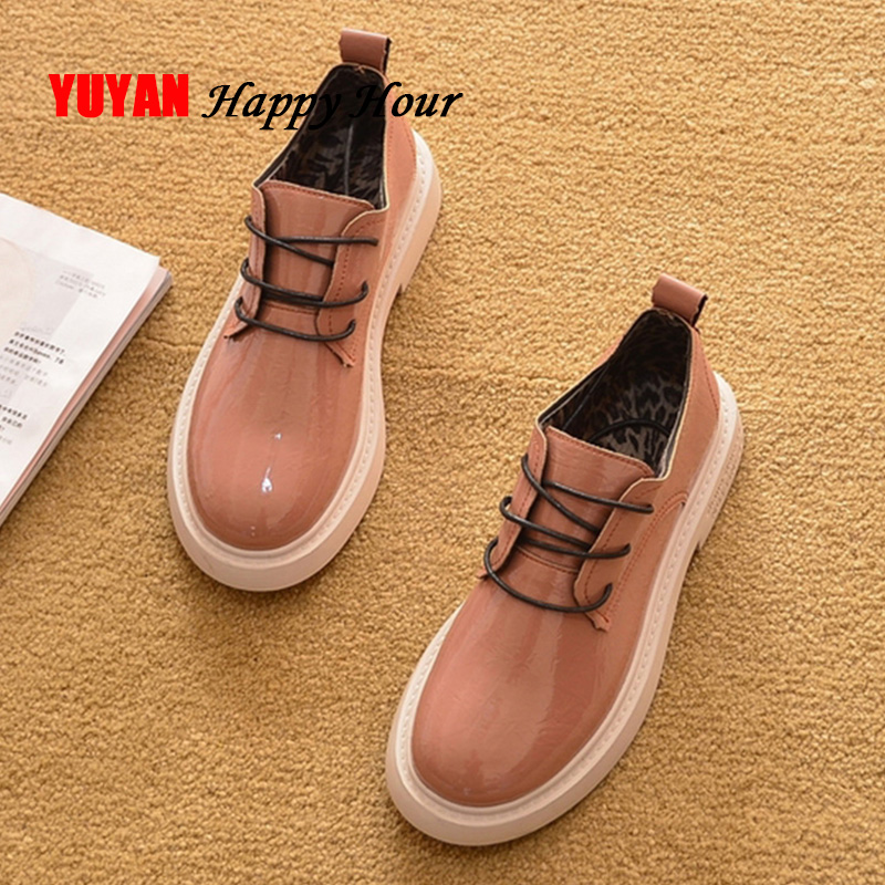 Leather Women Shoes 2020 Spring Casual Women Shoes Fashion Brand Woman Footwear A1115