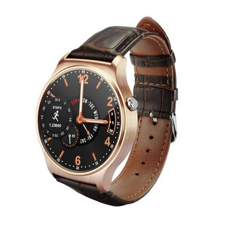 ФОТО New Arrival Bluetooth 4.0 SmartWatch MTK2502 64MB 128MB 1.3 inch IPS 240 x 240 Pixel Smart Watch Life Water Resistant For Men