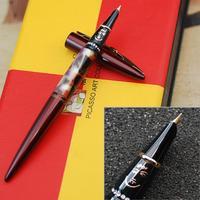 Sang trọng Picasso 988 rượu vang đỏ fountain pen với dễ thương pha lê văn phòng phẩm tài chính văn phòng độc đáo viết ink quà tặng bút 0.38 nib