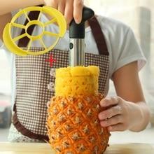 Accesorios de cocina de acero inoxidable pelador de piña máquina de cortar cortador de apple slicer corer pela fruta cuchillo de cocina herramienta de la cocina
