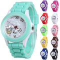 Color children's watch Geneva Silicone Watch gift student watch simple style pin buckle strap boy girl watch