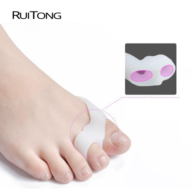 2PCS=1Pair Gel Toe Stretchers and Straightener Bunion Protector thumb valgus protector adjuster