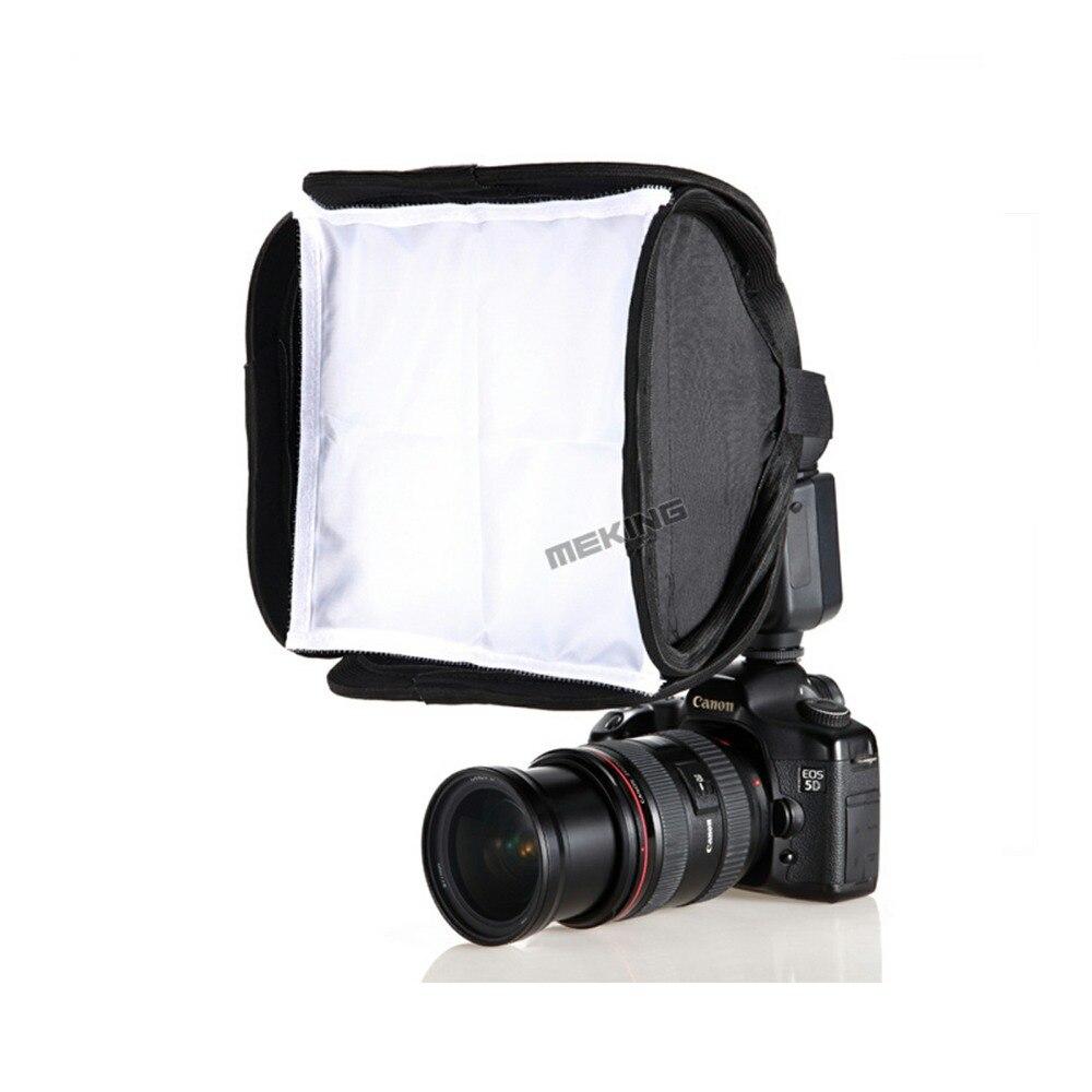 Meking 23cm Mini Softbox Diffuser Bounce For SpeedLight Flash Foldable Soft box for DSLR Camera Nissin