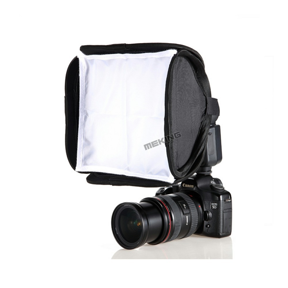 Meking 23cm Mini Softbox Diffuser Bounce For SpeedLight Flash Foldable Soft box for DSLR Camera Nissin Godox Shanny Speedlite