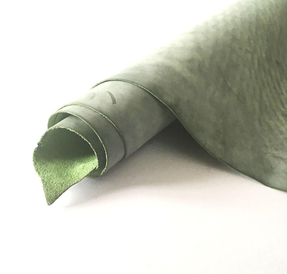 Страсть junetree кожа скрывает шкуры коровы толстые натуральная кожа около 1.8-2.0 мм теплые зеленые первый слой кожи