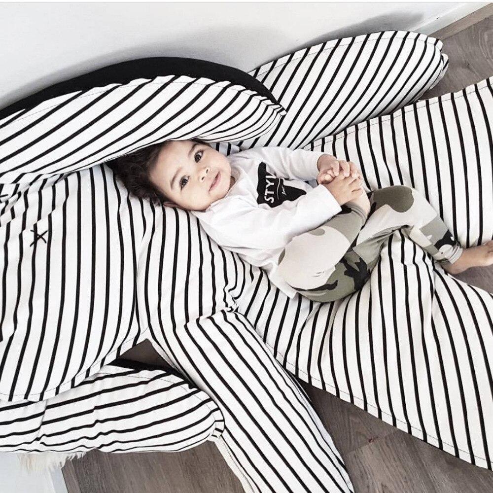 INS królik dziecko koc paski maty poduszki dla dzieci grać dywaniki - Pościel - Zdjęcie 6
