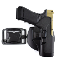 Tactical Glock 17 19 22 23 31 32 Airsoft Pistol Belt Holster Hunting Accessories Gun Case Right Hand