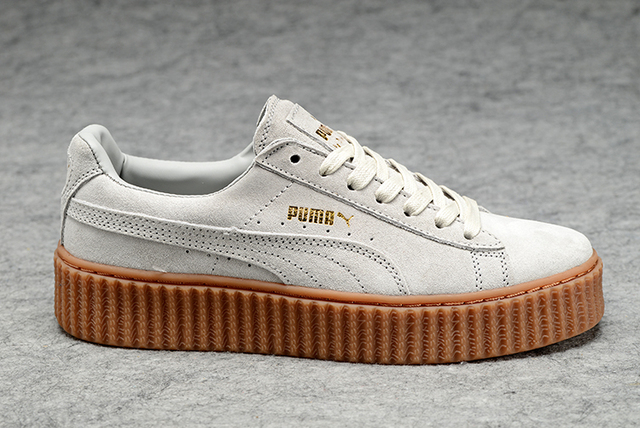 8d2389d973 US $45.78 5% OFF|New arrive Puma by Rihanna Suede Creepers women's and men  shoes Breathable Badminton Shoes Sneakers size 36 44-in Badminton Shoes ...