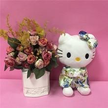 Hot Sale Colored Kimono Hello Kitty Plush Stuffed Doll Toys Kawaii kids Girl Birthday Gifts 20CM