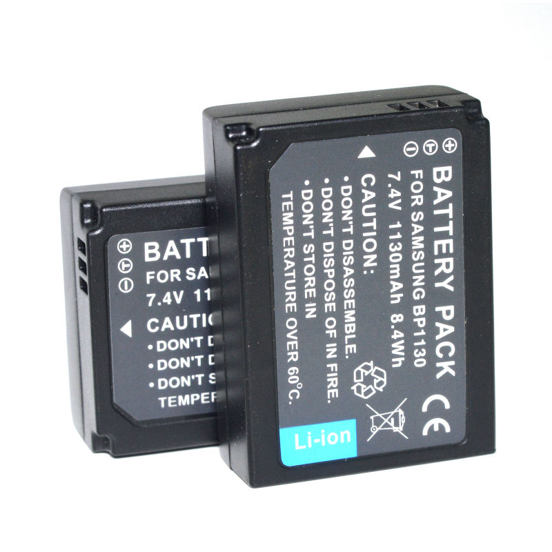 2PC BP1030 BP1130 <font><b>Battery</b></font> For <font><b>Samsung</b></font> NX1000 <font><b>NX1100</b></font> NX200 NX2000 NX210 NX300M NX300 NX310 NX500 Camera image