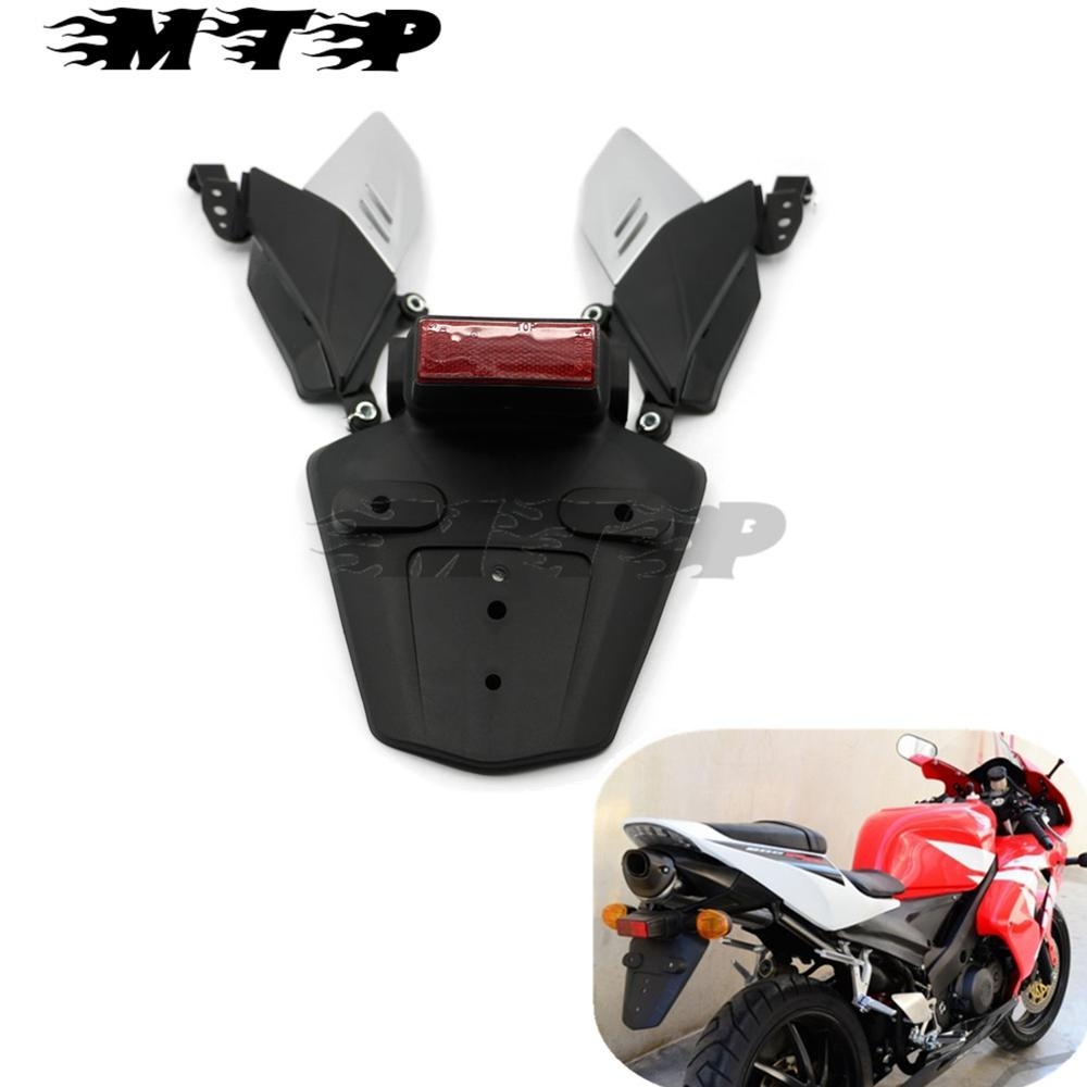 Motorcycle Rear Splash Mud Guard Mudflap Dirtboard Exhaust Support Side Fairing For Honda CBR600RR 2003-2004 CBR1000RR 2004-2005 arashi motorcycle radiator grille protective cover grill guard protector for 2008 2009 2010 2011 honda cbr1000rr cbr 1000 rr