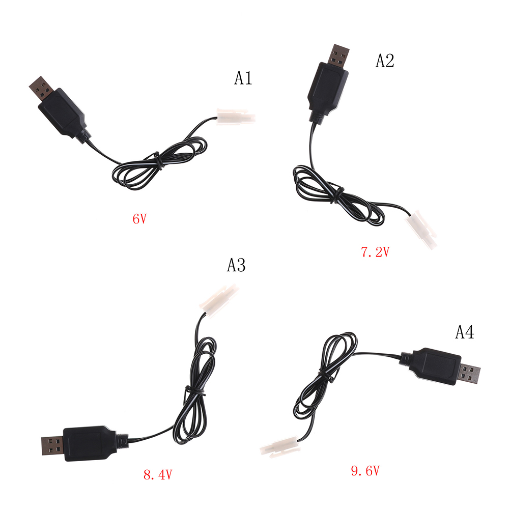Black <font><b>USB</b></font> <font><b>Charger</b></font> Adapter Cable Universal <font><b>Charger</b></font> DC <font><b>6V</b></font> 7.2V 8.4V 9.<font><b>6V</b></font> For Sky Viper Drone Helicopter For RC Car image