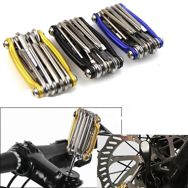 2018 1 шт. 11 в 1 Многофункциональный велосипед ключ цепи резак Инструменты для ремонта комплект новый безопасности и выживания Z911