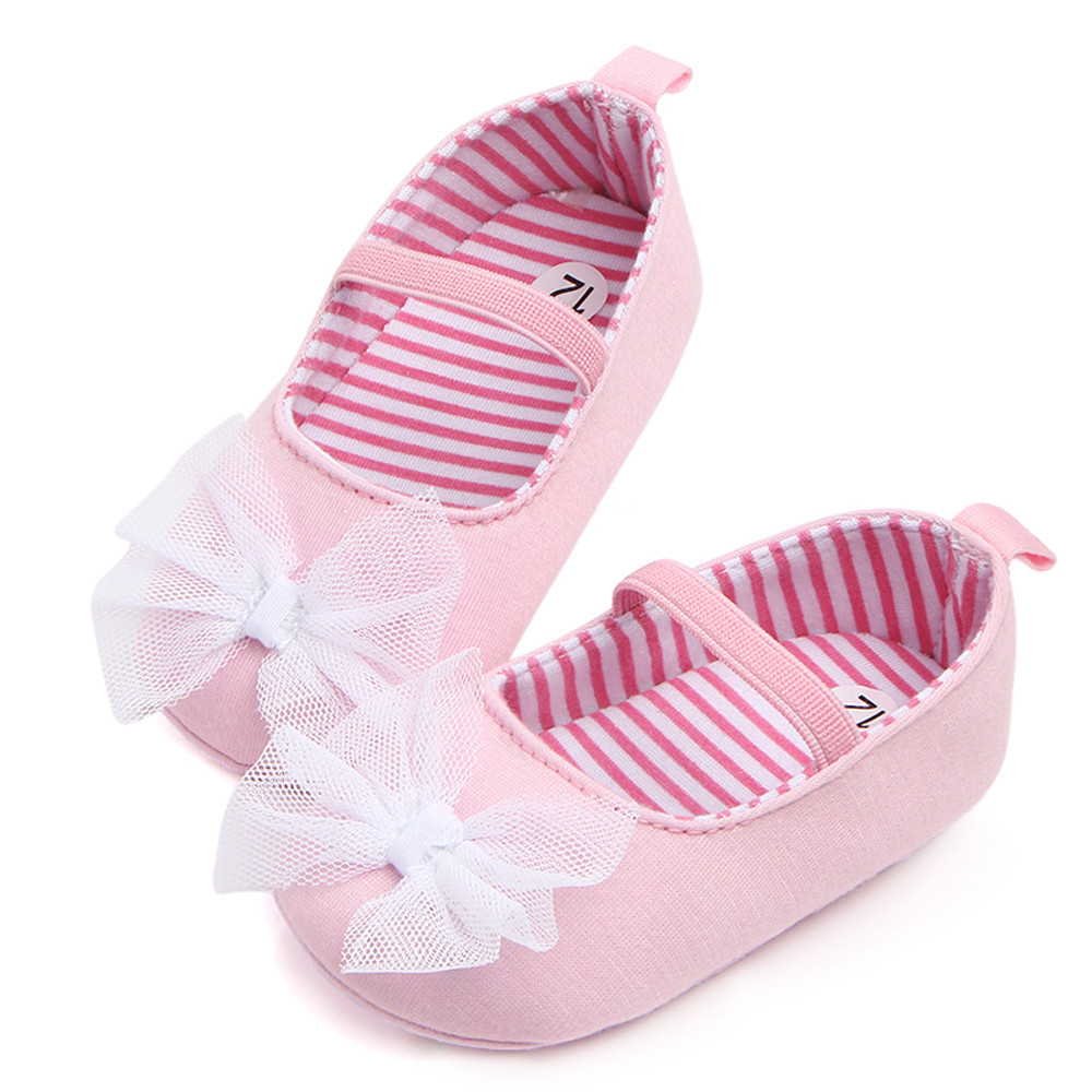 Newest Newborn Baby Girls Princess Sneakers Baby Girl Todder First Walkers Shoes Infant Prewalker Flower Soft Sole Shoes