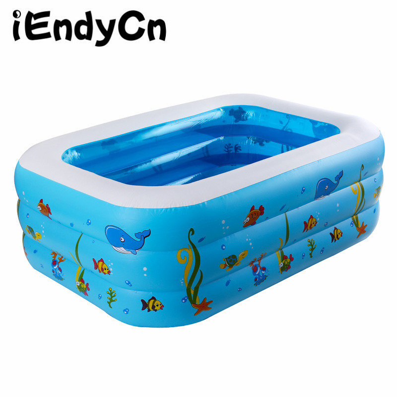 iEndyCn Baby Swimming Pool Three Layers Inflatable Square Green PVC Swimming Pool GXY173 dual slide portable baby swimming pool pvc inflatable pool babies child eco friendly piscina transparent infant swimming pools