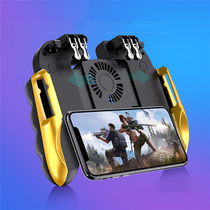 Image 2 - PUBG Mobile Controller Gamepad With Cooler Cooling Fan For iOS Android For Samsung Galaxy 6 Fingers Operation Joystick Cooler