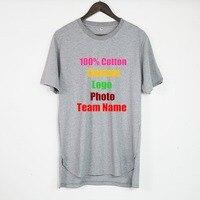 Oversized High Street Hip Hop Men T shirt Customized Custom Logo Photo Text Printed Loose Cotton Male Boy Solid T shirt Tees Top