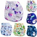 New Baby Modern Pocket Cloth Diapers One Size Fits All for NB to 13kgs babies (with 1PCS Bamboo Nappy)